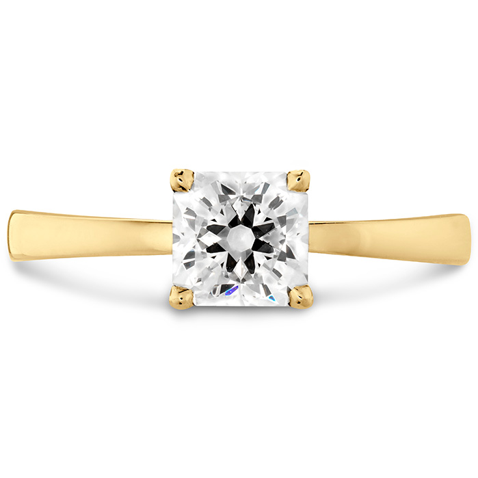 Dream Signature Solitaire Engagement Ring in 18K Yellow Gold