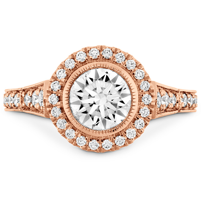 0.3 ctw. Deco Chic HOF Halo Semi-Mount in 18K Rose Gold