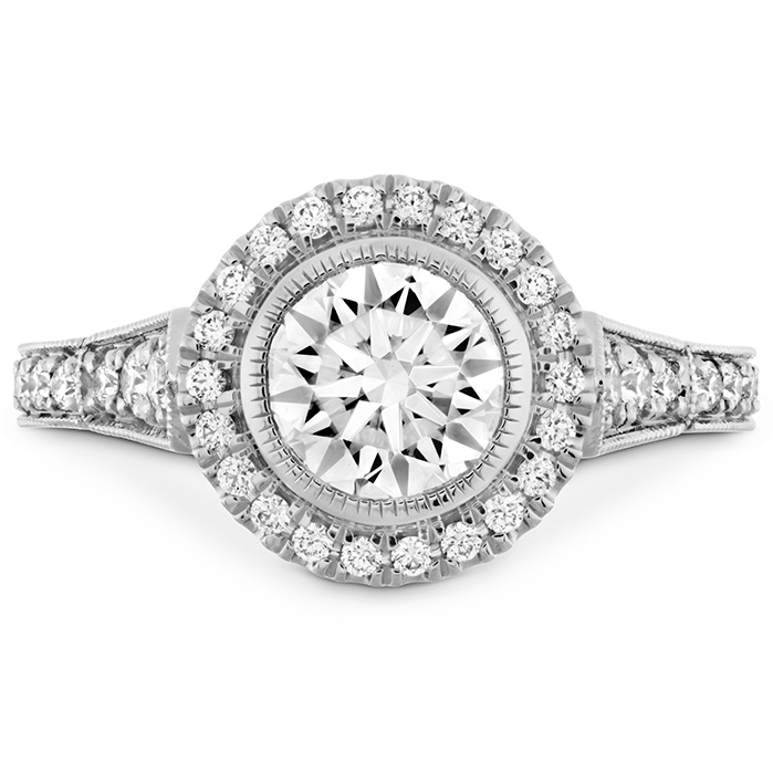 0.33 ctw. Deco Chic HOF Halo Semi-Mount in 18K White Gold
