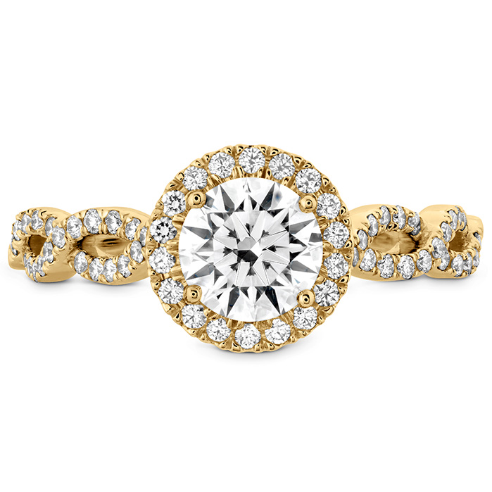 0.35 ctw. Destiny Lace HOF Halo Engagement Ring - Dia Intensive in 18K Yellow Gold