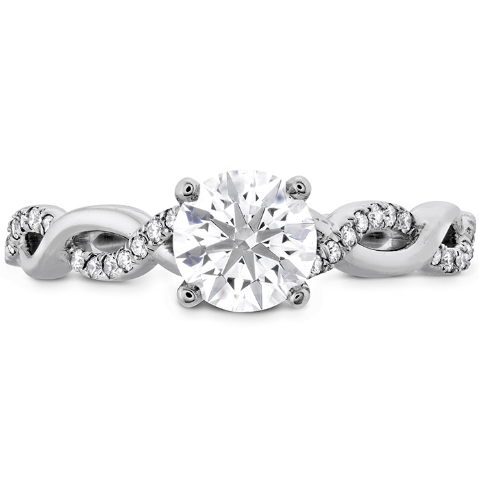 0.16 ctw. Destiny Lace HOF Engagement Ring in Platinum