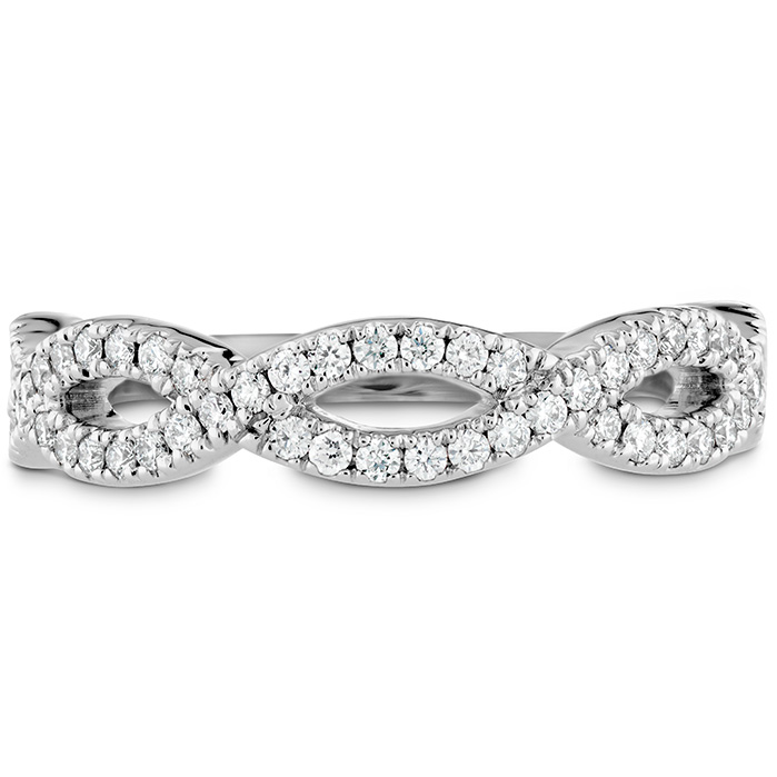0.3 ctw. Destiny Twist Diamond Band in 18K White Gold