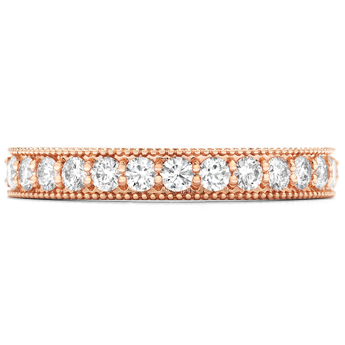 0.45 ctw. Diamond Bar Milgrain Band in 18K Rose Gold