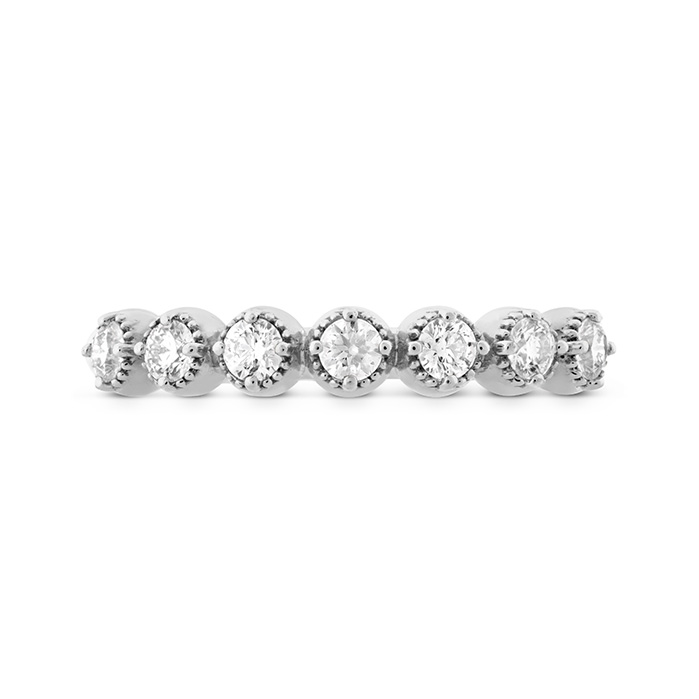 0.22 ctw. Diamond Bar Single Prong Milgrain Midi Band in 18K White Gold