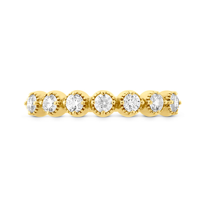 0.22 ctw. Diamond Bar Single Prong Milgrain Midi Band in 18K Yellow Gold