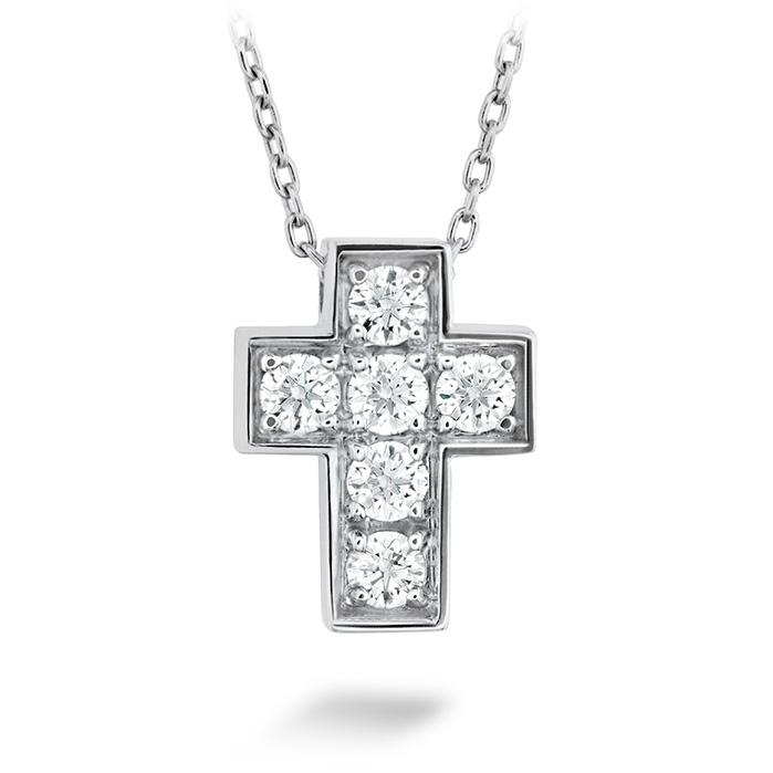 0.2 ctw. Divine Mini Cross Pendant in 18K White Gold