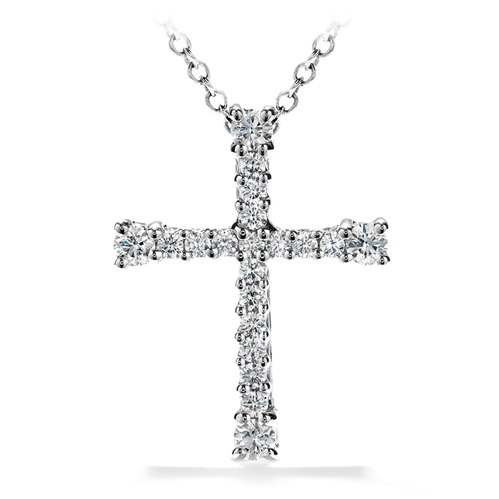0.5 ctw. Divine Cross Pendant Necklace in 18K Yellow Gold