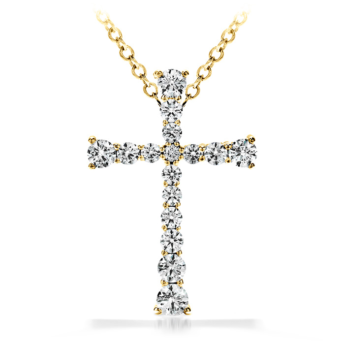 1.2 ctw. Divine Journey Cross Pendant Necklace in 18K Yellow Gold