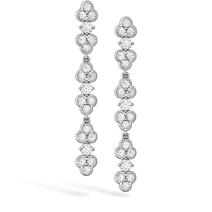 3.18 ctw. Effervescence Diamond Line Earrings in 18K White Gold