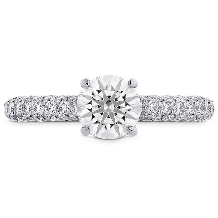 0.55 ctw. Euphoria HOF Engagement Ring - Diamond Band in 18K White Gold
