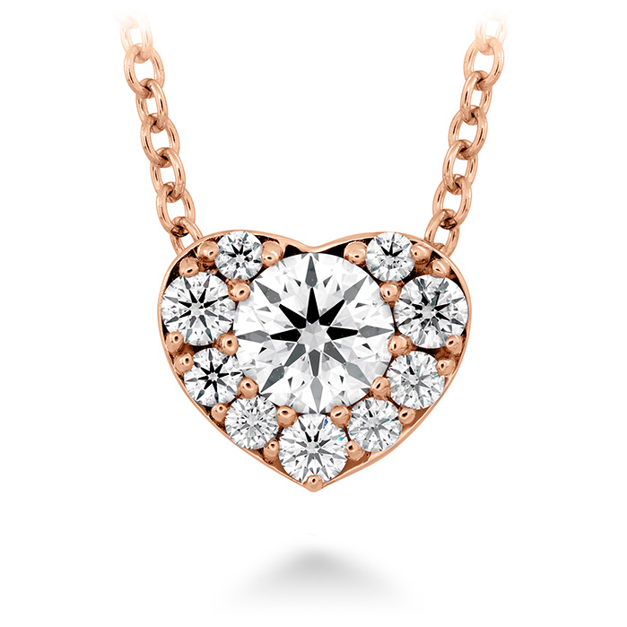 0.45 ctw. Fulfillment Heart Pendant in 18K Rose Gold