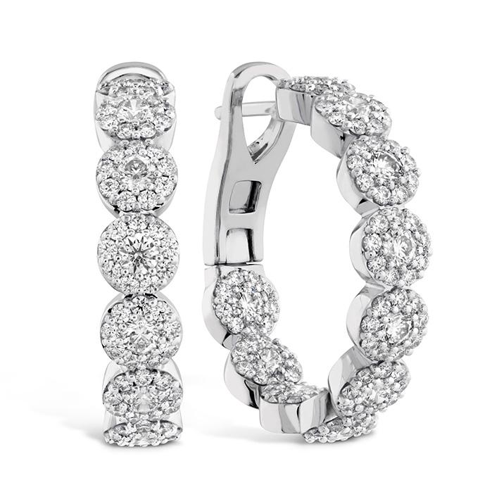 2.1 ctw. Fulfillment Hoop Earrings in 18K Rose Gold