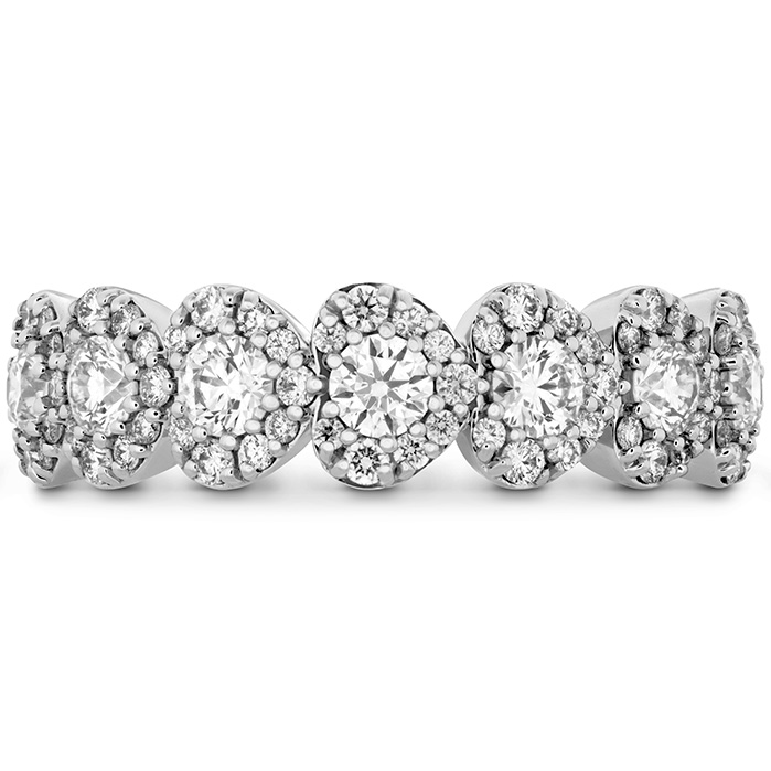 1 ctw. Fulfillment Hearts Band in 18K White Gold