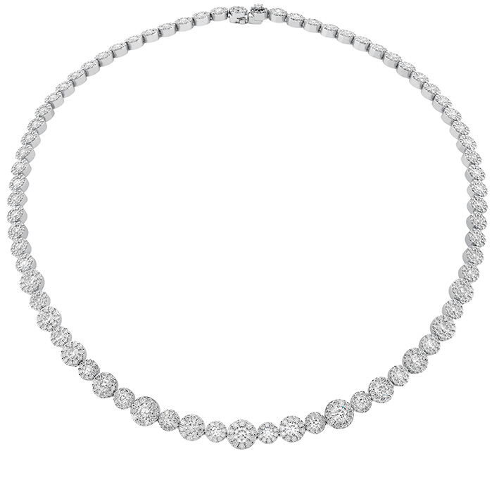 16.2 ctw. Fulfillment Diamond Line Necklace in 18K White Gold