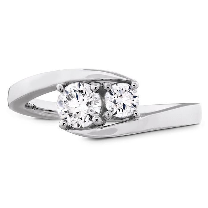 0.54 ctw. HOF Two Diamond Ring in 18K White Gold