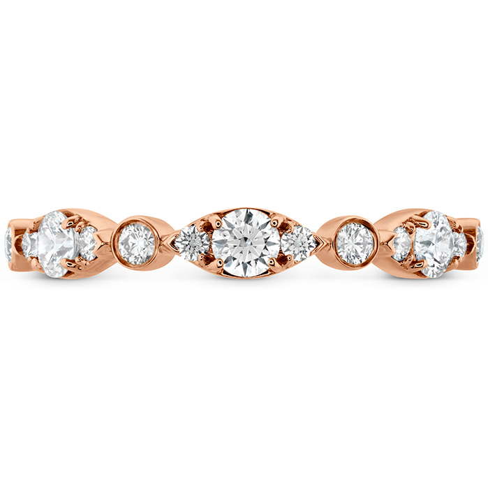 0.45 ctw. HOF Bezel Regal Band in 18K Rose Gold