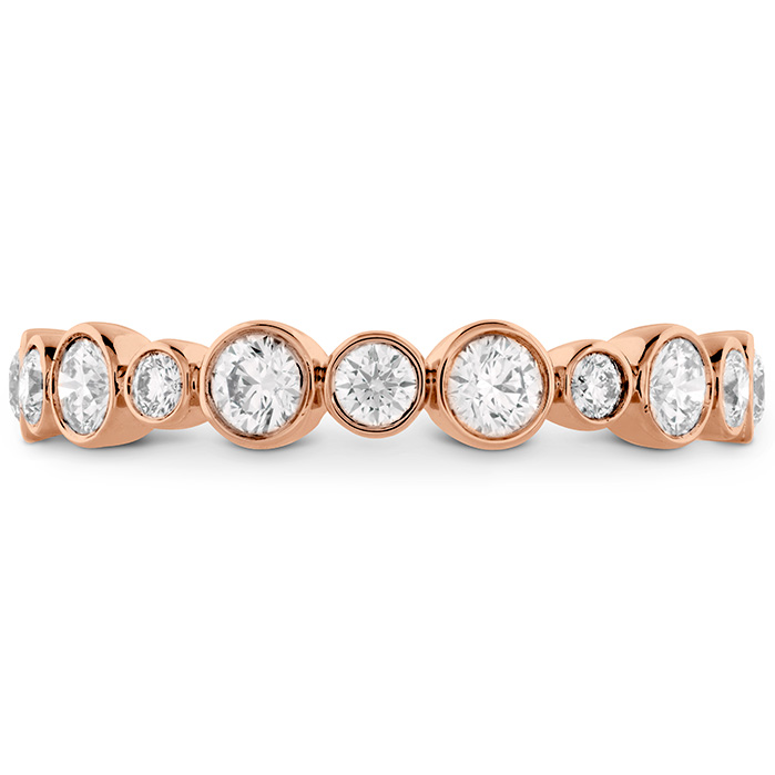 0.62 ctw. HOF Bezel Diamond Band in 18K Rose Gold