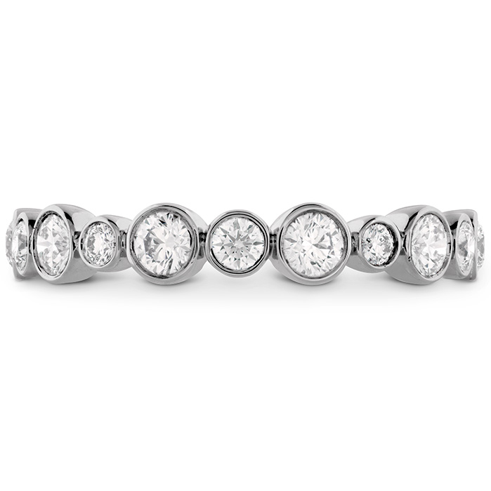 0.62 ctw. HOF Bezel Diamond Band in 18K White Gold