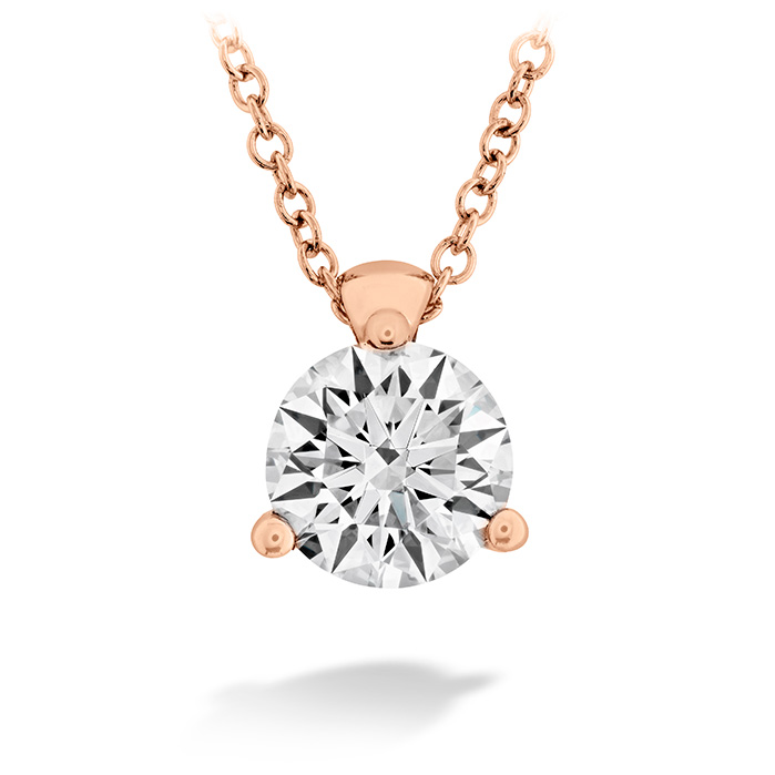 0.25 ctw. HOF Classic 3 Prong Solitaire Pendant in 18K Rose Gold