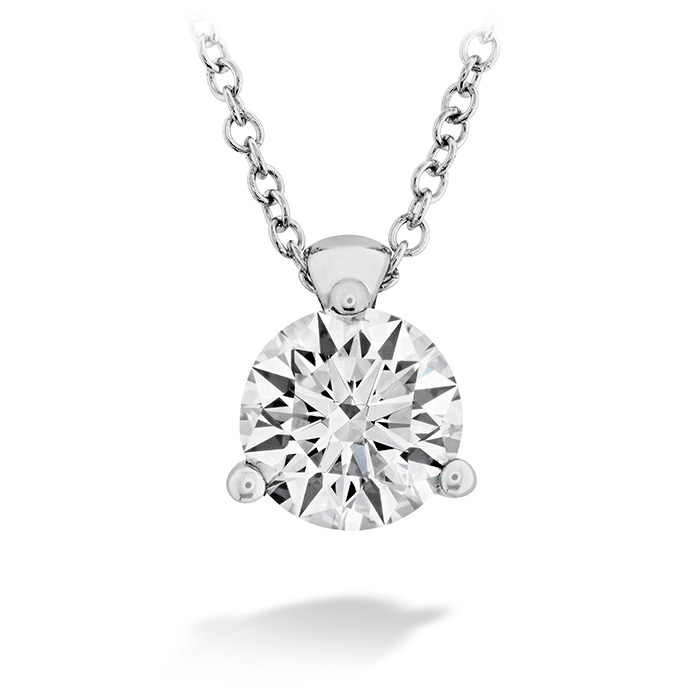 0.5 ctw. HOF Classic 3 Prong Solitaire Pendant in 18K White Gold
