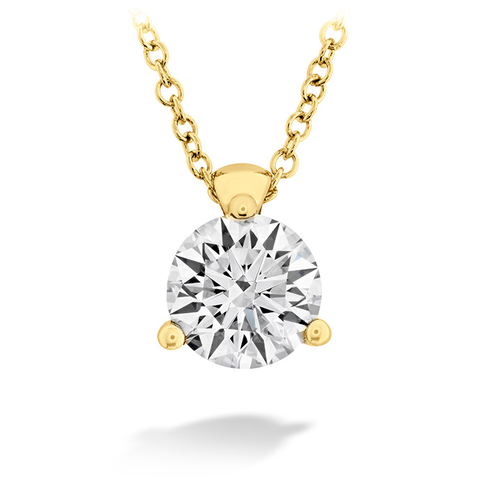 0.25 ctw. HOF Classic 3 Prong Solitaire Pendant in 18K Yellow Gold