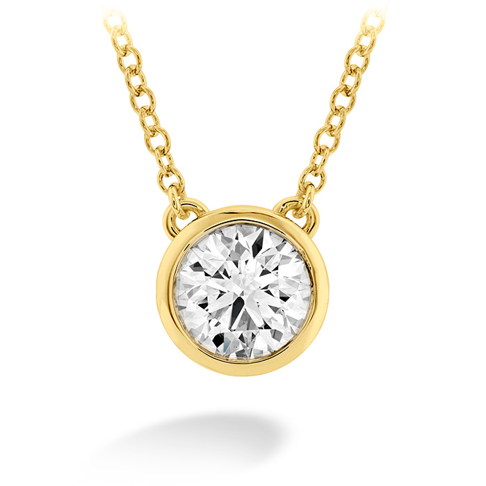 0.5 ctw. HOF Classic Bezel Solitaire Pendant in 18K Yellow Gold