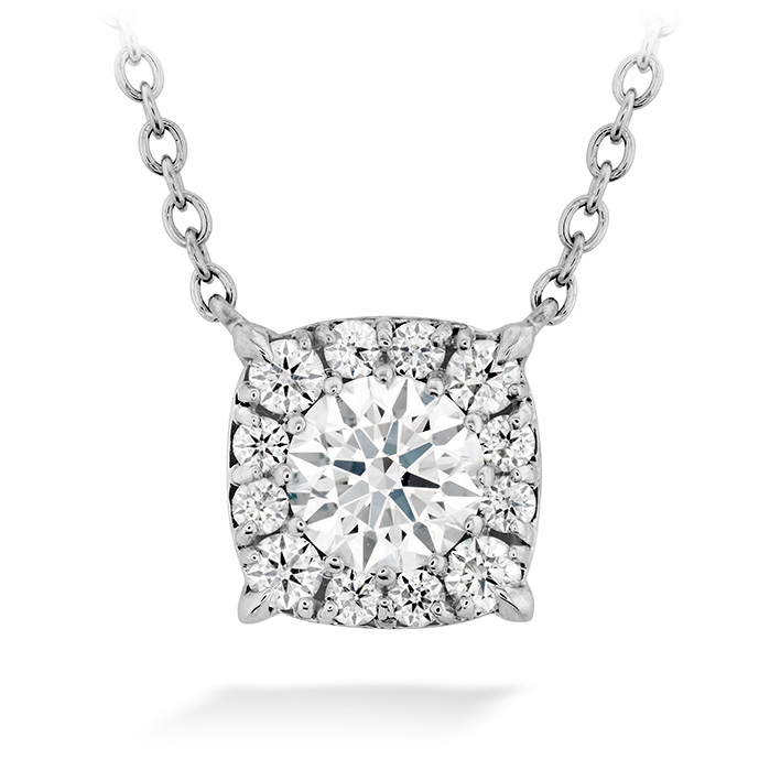 0.82 ctw. HOF Custom Halo Diamond Pendant in 18K White Gold