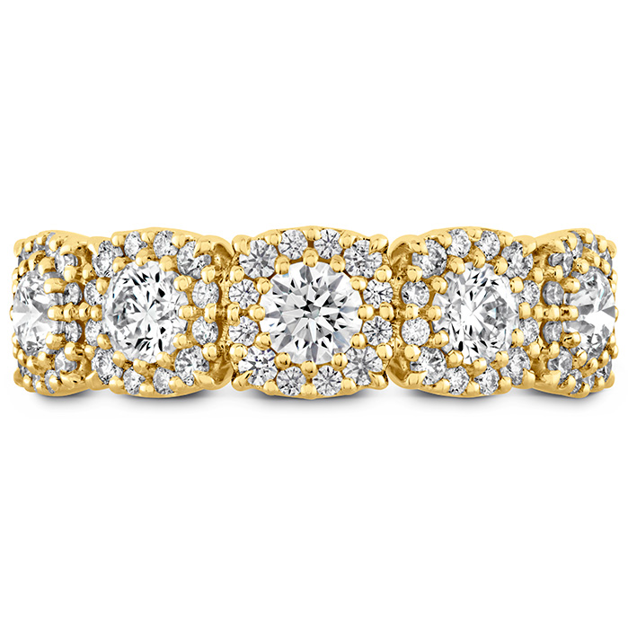 1.18 ctw. HOF Custom Halo Diamond Band in 18K Yellow Gold