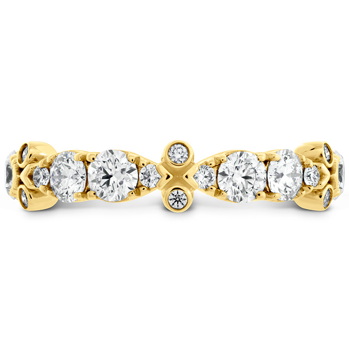 0.9 ctw. HOF Double Teardrop Bezel Diamond Band in 18K Yellow Gold