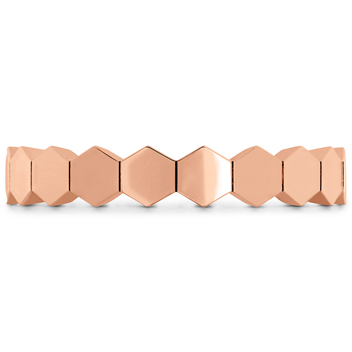 HOF Hex Metal Eternity Band in 18K Rose Gold