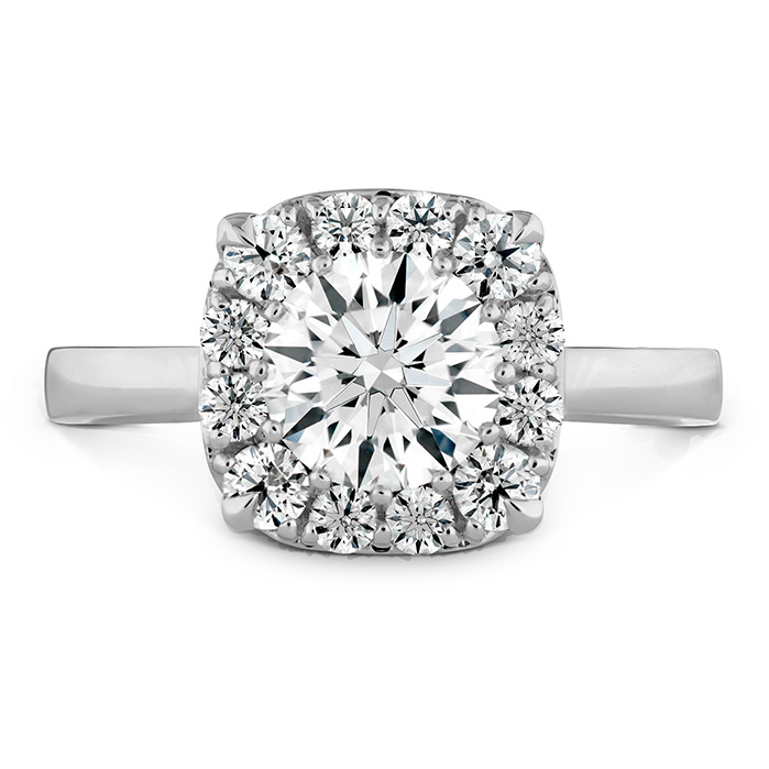 0.1 ctw. HOF Signature Custom Halo Engagement Ring in 18K White Gold