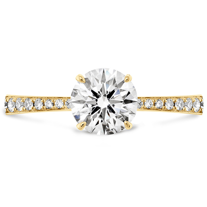 0.1 ctw. HOF Signature Engagement Ring-Diamond Band in 18K Yellow Gold