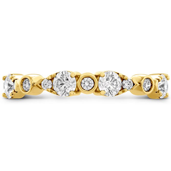 0.6 ctw. HOF Teardrop Bezel Diamond Band in 18K Yellow Gold