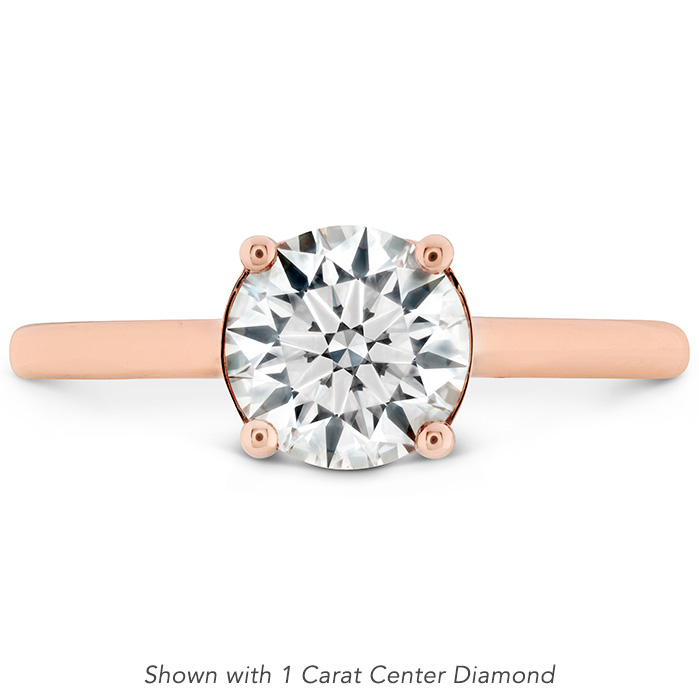 0.01 ctw. Sloane Silhouette Engagement Ring in 18K Rose Gold