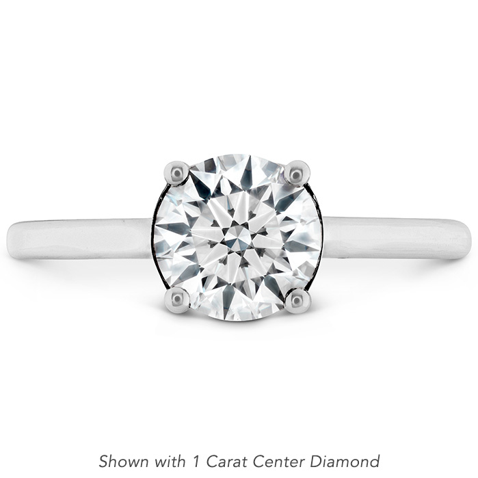 0.01 ctw. Sloane Silhouette Engagement Ring in 18K White Gold