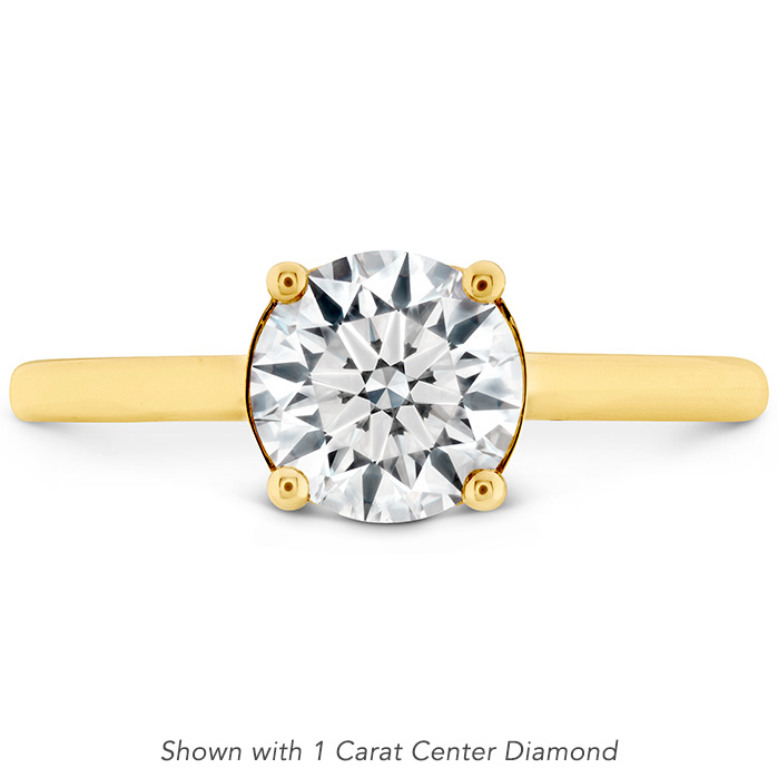 0.01 ctw. Sloane Silhouette Engagement Ring in 18K Yellow Gold