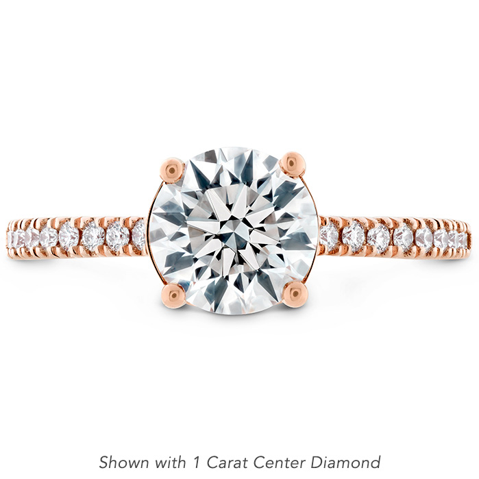 0.18 ctw. Sloane Silhouette Engagement Ring Diamond Band in 18K Rose Gold