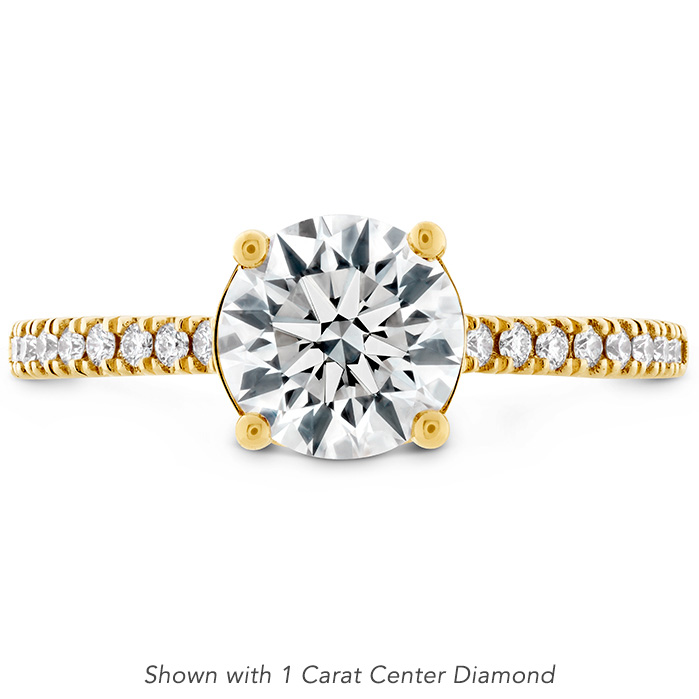 0.18 ctw. Sloane Silhouette Engagement Ring Diamond Band in 18K Yellow Gold
