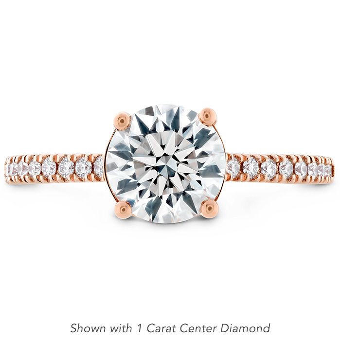 0.18 ctw. Sloane Silhouette Engagement Ring Diamond Band-Sapphires in 18K Rose Gold