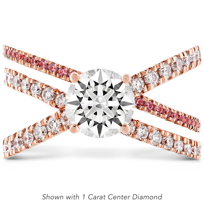 0.44 ctw. Harley Wrap Engagement Ring with Sapphires in 18K Rose Gold