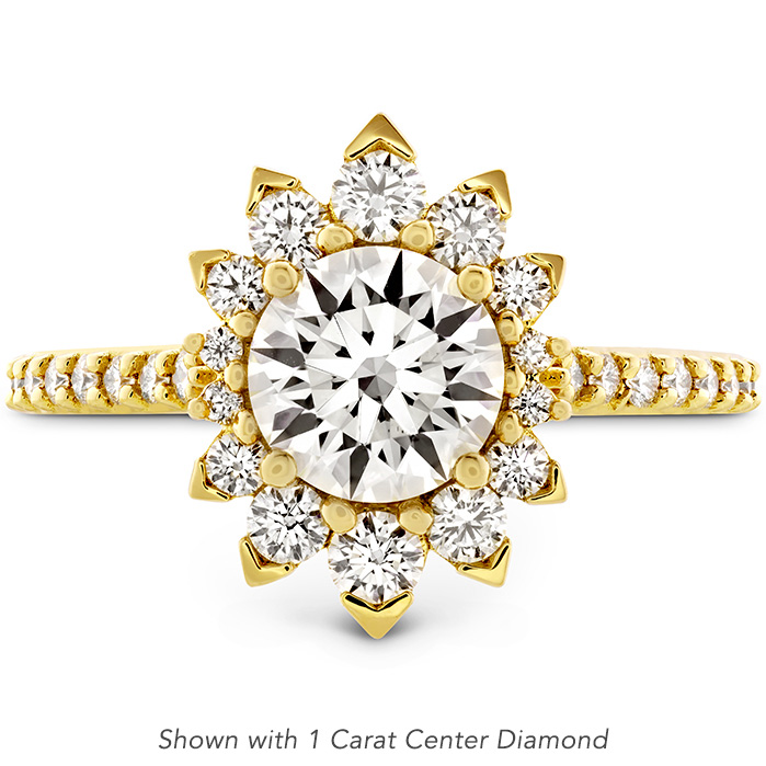0.51 ctw. Behati Say It Your Way Oval Engagement Ring in 18K Yellow Gold