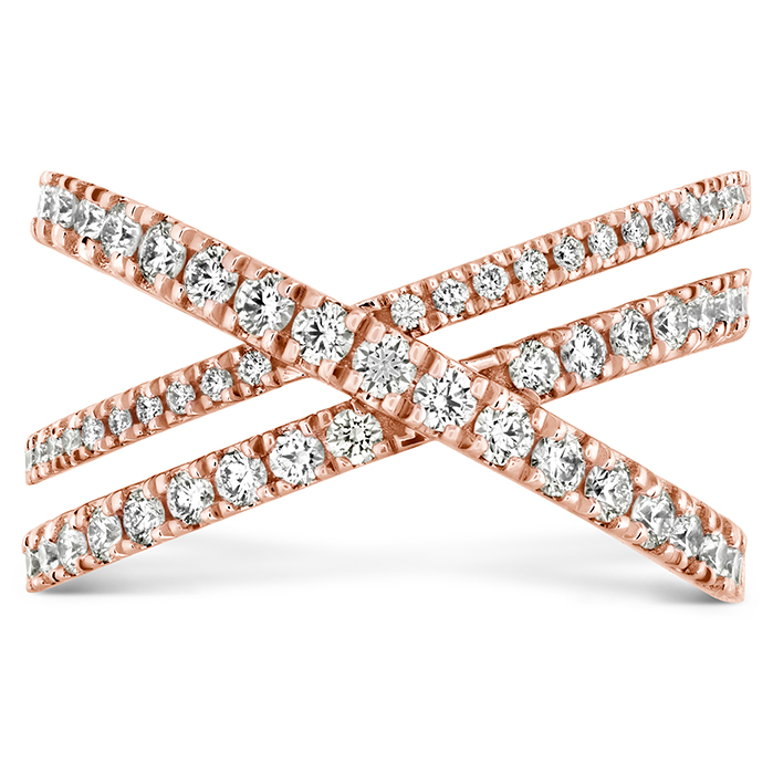 0.69 ctw. Harley Wrap Power Band in 18K Rose Gold