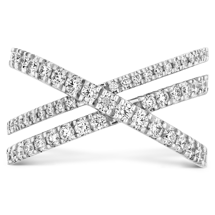0.69 ctw. Harley Wrap Power Band in 18K White Gold