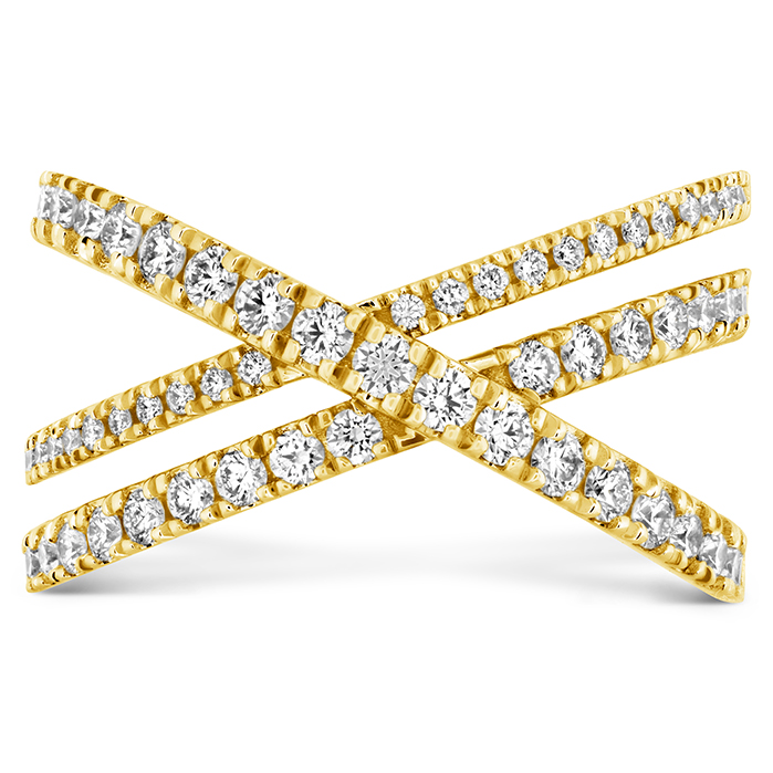 0.69 ctw. Harley Wrap Power Band in 18K Yellow Gold