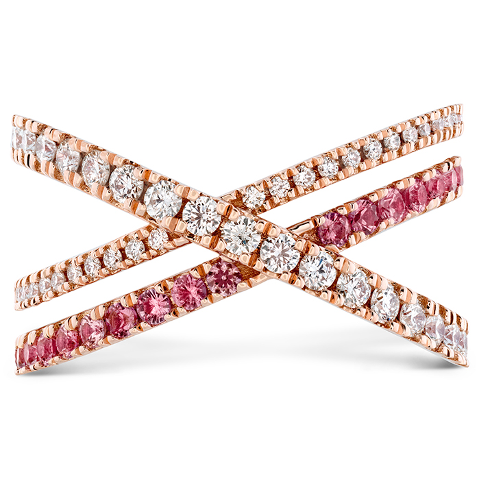0.45 ctw. Harley Wrap Power Band with Sapphires in 18K Rose Gold
