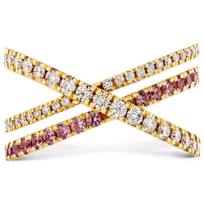 0.45 ctw. Harley Wrap Power Band with Sapphires in 18K Yellow Gold