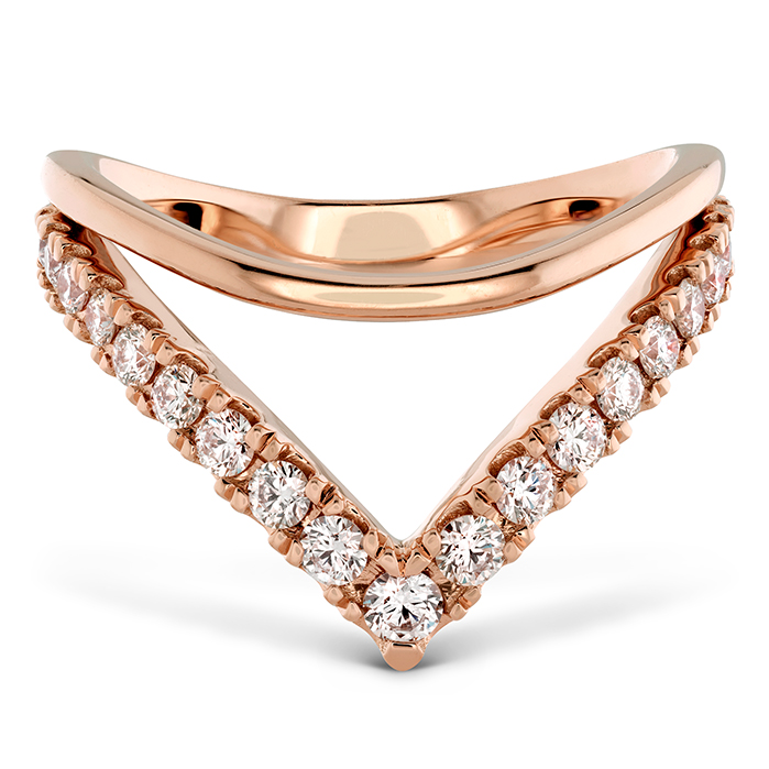 0.51 ctw. Harley Silhouette Power Band in 18K Rose Gold