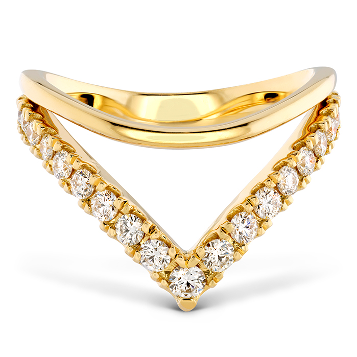 0.51 ctw. Harley Silhouette Power Band in 18K Yellow Gold