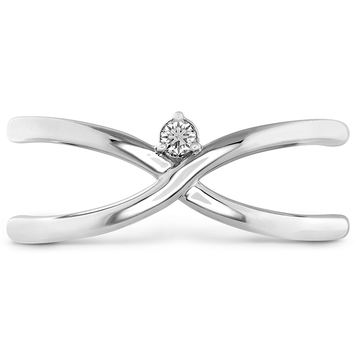 0.03 ctw. Love Code - Love Wrap Band in Platinum