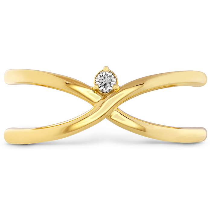 0.03 ctw. Love Code - Love Wrap Band in 18K Yellow Gold